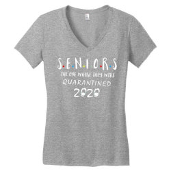 class of 2020 graduation senior funny quarantine Women's V-Neck T-Shirt | Artistshot