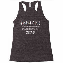 class of 2020 graduation senior funny quarantine Racerback Tank | Artistshot