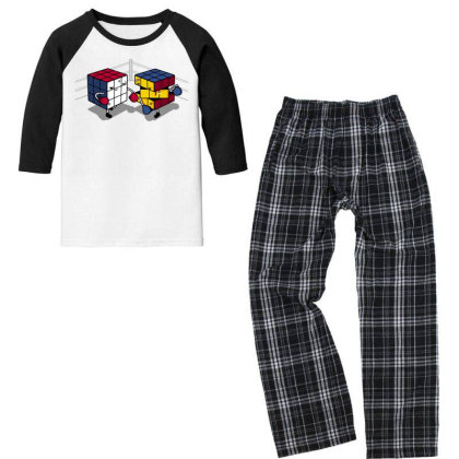 Cube Fight! Youth 3/4 Sleeve Pajama Set Designed By Raffiti