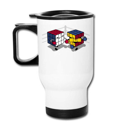 Cube Fight! Travel Mug Designed By Raffiti