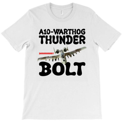 A10 Warthog Thunder Bolt For Light T-shirt Designed By Gurkan
