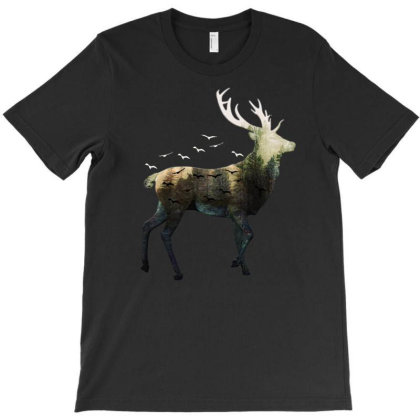 Forest Deer T-shirt Designed By Gurkan