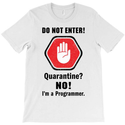 I'm Not In Quarantine. I'm A Programmer T-shirt Designed By Honeysuckle