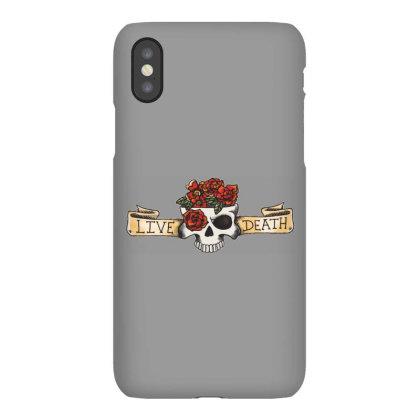 Live Death, Skull Iphonex Case Designed By Estore