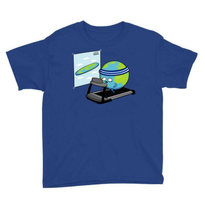 Round Earth! Youth Tee Designed By Raffiti