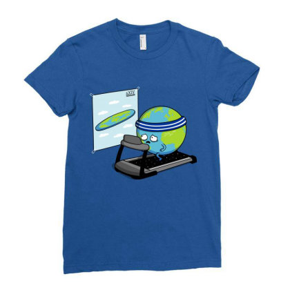 Round Earth! Ladies Fitted T-shirt Designed By Raffiti