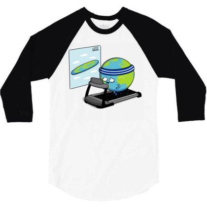 Round Earth! 3/4 Sleeve Shirt Designed By Raffiti