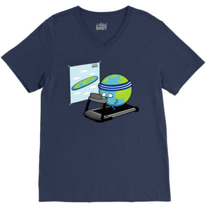 Round Earth! V-neck Tee Designed By Raffiti