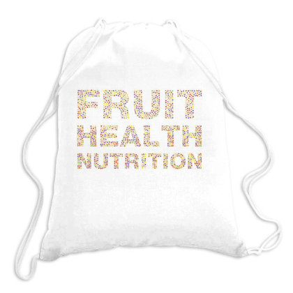 Fruit Health Nutrition Drawstring Bags Designed By Estore
