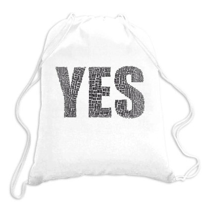 Yes, No Drawstring Bags Designed By Estore