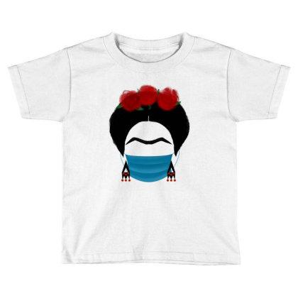 Frida Kahlo In Quarantine Mask Toddler T-shirt Designed By Djelsomina