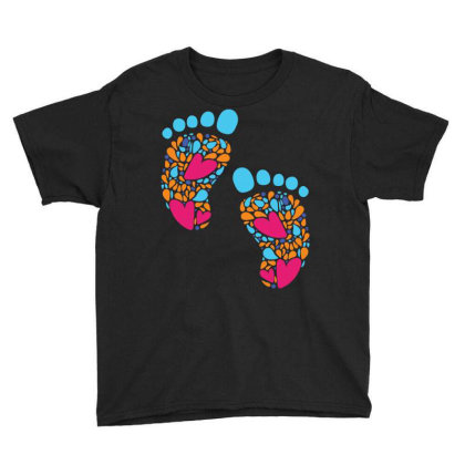 Baby Feet Youth Tee Designed By Duka