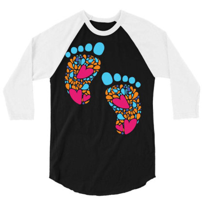 Baby Feet 3/4 Sleeve Shirt Designed By Duka