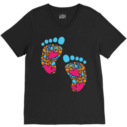 Baby Feet V-neck Tee Designed By Duka