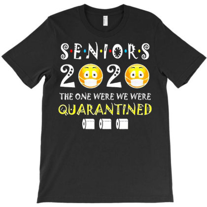 Seniors 2020 The One Where They Were Quarantined Social Distancing T-shirt Designed By Vanitty