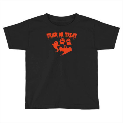 Trick Or Treat Funny Halloween Toddler T-shirt Designed By Ramateeshirt