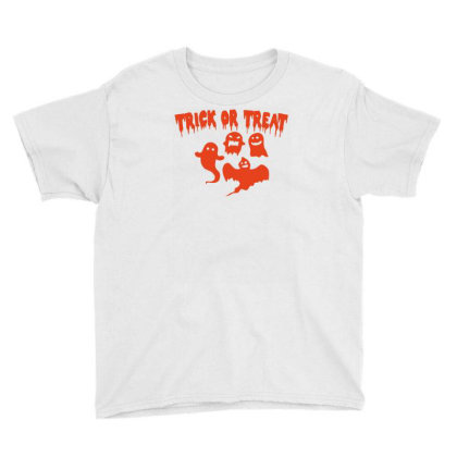 Trick Or Treat Funny Halloween Youth Tee Designed By Ramateeshirt