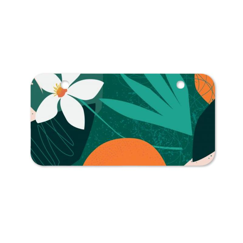 Oranges, Exotic Jungle Fruits And Plants Illustration In Vector. Bicycle License Plate | Artistshot