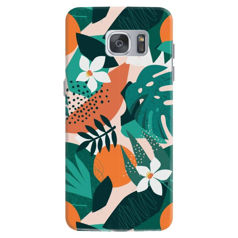 Oranges, Exotic Jungle Fruits And Plants Illustration In Vector. Samsung Galaxy S7 Case   Artistshot