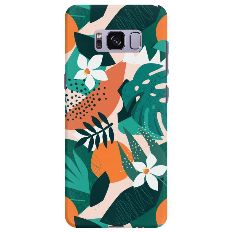 Oranges, Exotic Jungle Fruits And Plants Illustration In Vector. Samsung Galaxy S8 Plus Case | Artistshot