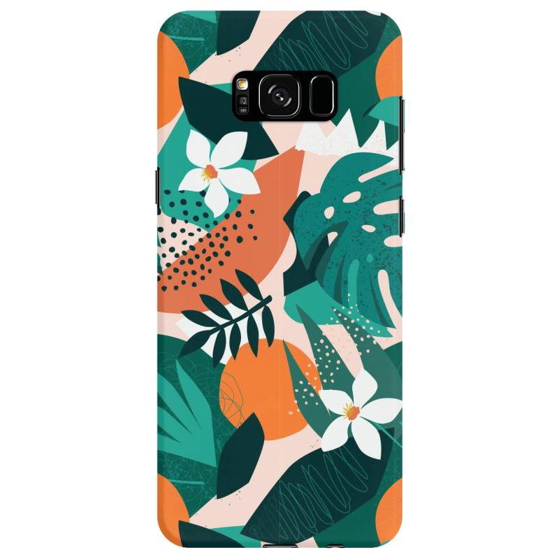 Oranges, Exotic Jungle Fruits And Plants Illustration In Vector. Samsung Galaxy S8 Case | Artistshot