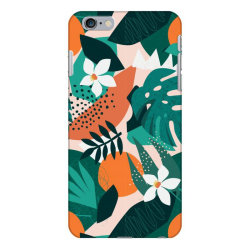 Oranges, exotic jungle fruits and plants illustration in vector. iPhone 6 Plus/6s Plus Case | Artistshot