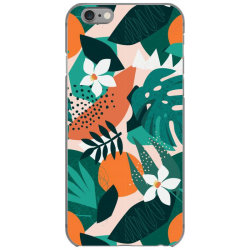 Oranges, exotic jungle fruits and plants illustration in vector. iPhone 6/6s Case | Artistshot