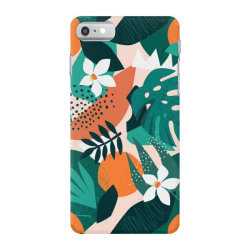 Oranges, exotic jungle fruits and plants illustration in vector. iPhone 7 Case | Artistshot