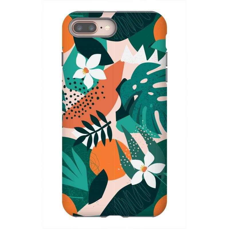 Oranges, Exotic Jungle Fruits And Plants Illustration In Vector. Iphone 8 Plus Case   Artistshot