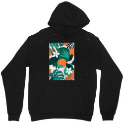 Oranges, exotic jungle fruits and plants illustration in vector. Unisex Hoodie | Artistshot