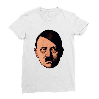 Adolf Hipster Hitler Ladies Fitted T-shirt Designed By Estore