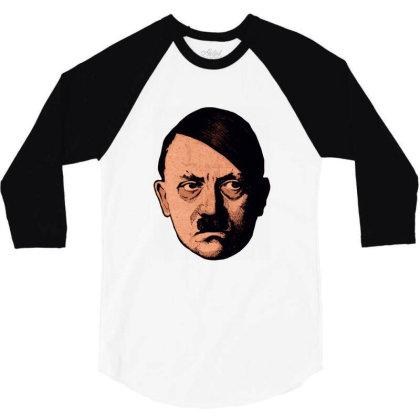 Adolf Hipster Hitler 3/4 Sleeve Shirt Designed By Estore