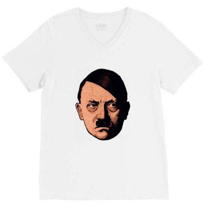 Adolf Hipster Hitler V-neck Tee Designed By Estore