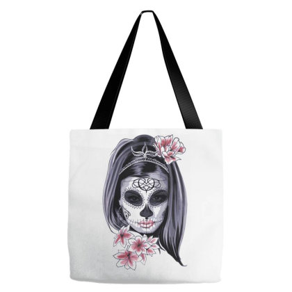 Skull Girl Tote Bags Designed By Estore