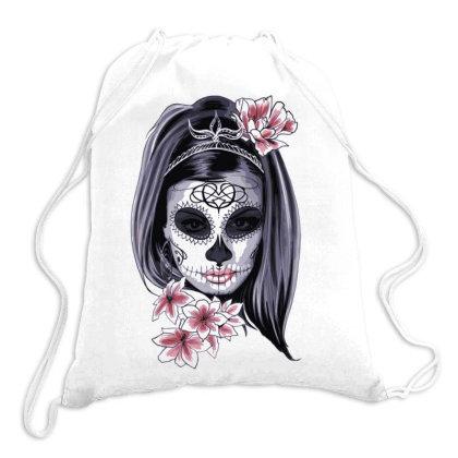 Skull Girl Drawstring Bags Designed By Estore