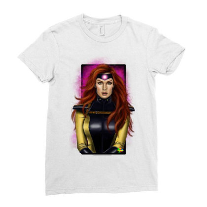 Jean Grey Ladies Fitted T-shirt Designed By Nro Arte Digital