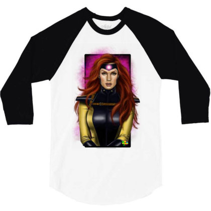 Jean Grey 3/4 Sleeve Shirt Designed By Nro Arte Digital