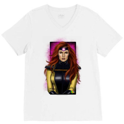 Jean Grey V-neck Tee Designed By Nro Arte Digital