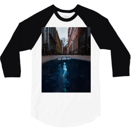 Under Water City 3/4 Sleeve Shirt Designed By Keremcgrc
