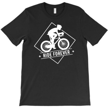 Bicycle Ride Forever Cycling T-shirt Designed By Ramateeshirt
