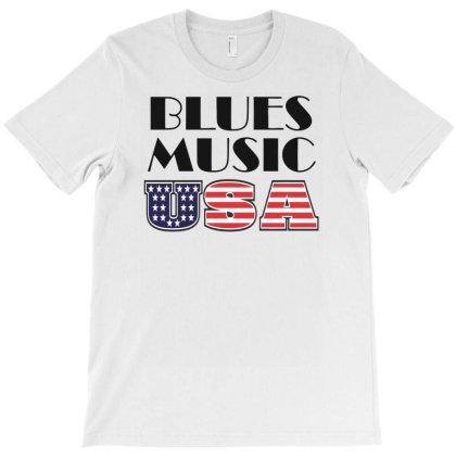 Blues Music Usa T-shirt Designed By Ramateeshirt