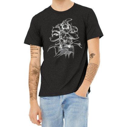 Full Metal Alchemist Sketch White Heather T-shirt Designed By Saikishop