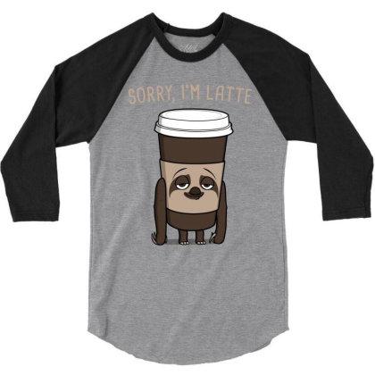 Latte! 3/4 Sleeve Shirt Designed By Raffiti
