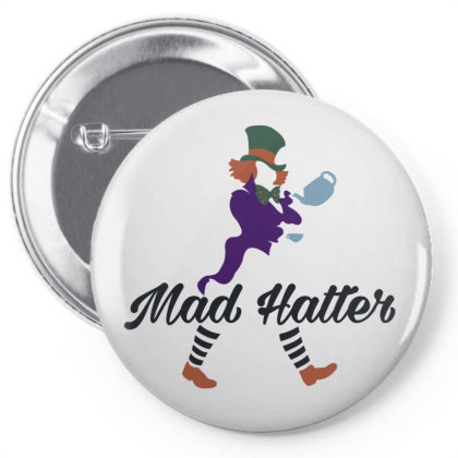 Mad Hatter! Pin-back Button Designed By Raffiti