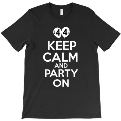 Do You Love Birthday Party? Get 44th Keep Calm And Play On Outfit T-shirt Designed By Cogentprint