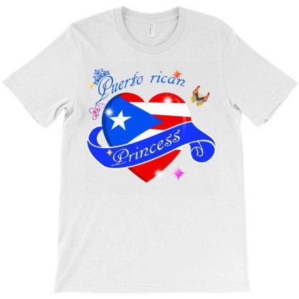 Puerto Rican Love Princess T-shirt Designed By Cogentprint