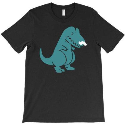 T Rex Mustache Funny Humor T-shirt Designed By Ramateeshirt