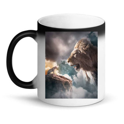 Big Lion Magic Mug Designed By Sherif.arts