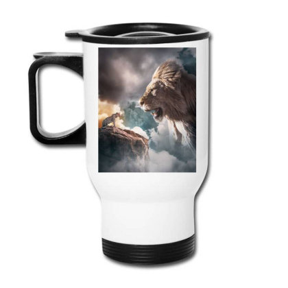 Big Lion Travel Mug Designed By Sherif.arts