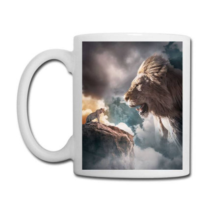 Big Lion Coffee Mug Designed By Sherif.arts